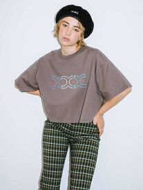 X-girl(エックスガール)CONNETED LOGO CROPPED S/S MENS TEE