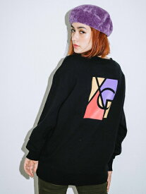 X-girl(エックスガール)SQUARE LOGO CREW SWEAT TOP
