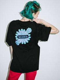 X-girl(エックスガール)PEACOCK FLOWER S/S MENS TEE