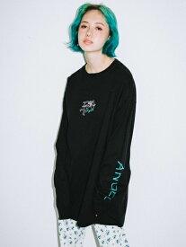 X-girl(エックスガール)ANGEL L/S BIG TEE DRESS
