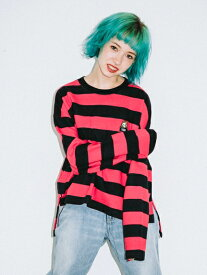 X-girl(エックスガール)STRIPED SWEAT TOP