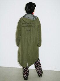 【公式】X-girl(エックスガール)HOODED PUFFER COAT