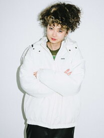 X-girl(エックスガール)HOODED PUFFER JUMPER