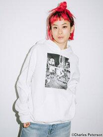 【公式】X-girl(エックスガール)X-girl × Charles Peterson PHOTO SWEAT HOODIE
