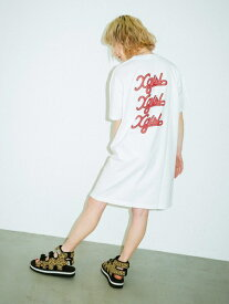 X-girl(エックスガール)FLOWING LOGO S/S TEE DRESS