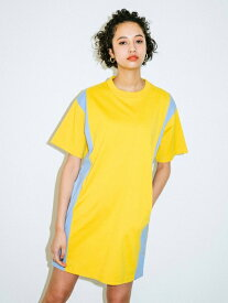 X-girl(エックスガール)COLOR BLOCK S/S TEE DRESS