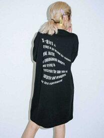 X-girl(エックスガール)WINDING WORDS S/S TEE DRESS