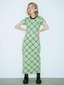X-girl(エックスガール)BIAS PLAID DRESS