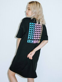 X-girl(エックスガール)COLOR TIP S/S TEE DRESS