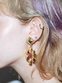 【公式】X-girl(エックスガール)METALLIC FLOWER EAR CLIPS