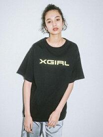 X-girl(エックスガール)【WEB限定】HORIZONTAL LOGO S/S BIG TEE EC