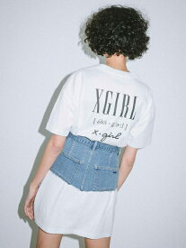 X-girl(エックスガール)VARIOUS LOGO S/S TEE DRESS