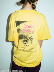 X-girl(エックスガール)X-GIRL X SKATE KITCHEN MOVIE S/S MENS TEE