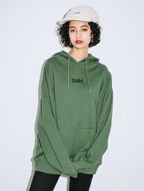 X-girl(エックスガール)EMBROIDERED MILLS LOGO SWEAT HOODIE