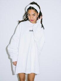 【公式】X-girl(エックスガール)EMBROIDERED MILLS LOGO SWEAT HOODIE