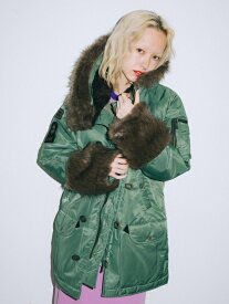 X-girl(エックスガール)X-girl × HYSTERIC GLAMOUR N-3B JACKET
