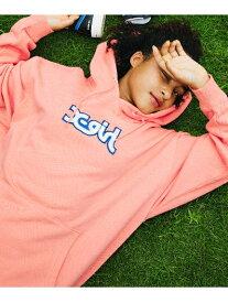 【公式】X-girl(エックスガール)PATCHED MILLS LOGO SWEAT HOODIE