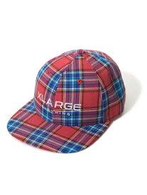 XLARGE(エクストララージ)PLAID 6PANEL CAP