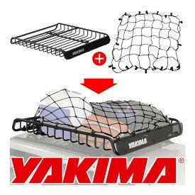 【YAKIMA 純正品】ヤキマ メガウォーリアー ルーフラック ルーフキャリア 8007080 + Lサイズ カーゴネット 約99cm×107cm 8007081