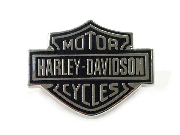 Harley-Davidson / ハーレーダビッドソン ロゴピンバッジ(ブラック/シルバー)