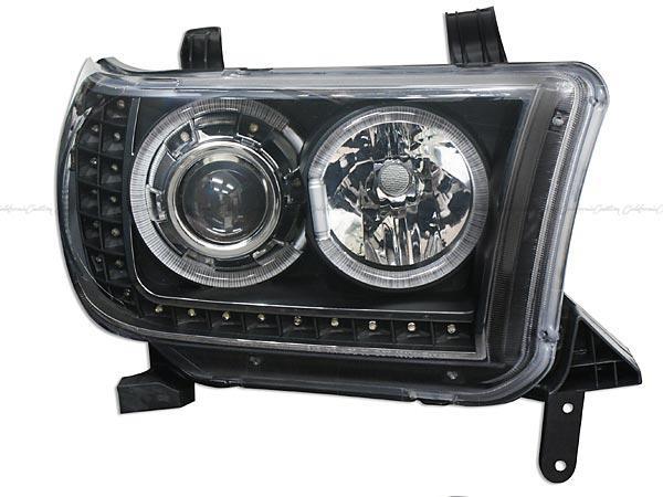 2007y- トヨタ タンドラ / 2008y- トヨタ セコイア リング付プロジェクターヘッドライト(ブラック/LED)