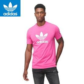 adidas アディダス正規品オリジナルス半袖TEEシャツメンズOriginals TREFOIL TEEトレフォイル ロゴプリントTEE SHOCK PINKピンクDH5776並行輸入インポートブランド海外買い付け正規[0519]