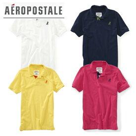 【在庫売りつくし】[AEROPOSTALE エアロポステール] 半袖 刺繍入り 鹿の子ポロシャツ 6027-7913 インポートブランド アメカジ【XSサイズ】
