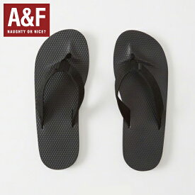Abercrombie & Fitchアバクロンビーアンドフィッチ正規品メンズ サンダル ビーサン Mixed Media Rubber Flip Flops (BLACK) 112-147-0288-900【あす楽対応】【楽ギフ_包装】[0717]