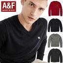 Abercrombie&Fitchアバクロンビーアンドフィッチ正規品メンズ セーター ニットCON V-NECK SWEATER 120-201-1199-200…