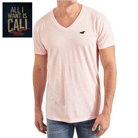 HOLLISTERホリスター正規品メンズ半袖TEEシャツ ピンク VネックGuys Must-Have V-Neck T-Shirt 324-368-0388-600インポートブランド海外買い付け【楽ギフ_包装】[0818]