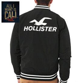 HOLLISTERホリスター正規品メンズ ロゴボンバージャケットGuys Logo Bomber Jacket ベースボールジャケット アウター黒332-324-0387-900[即納]インポートブランド海外買い付け正規【楽ギフ_包装】[0219]