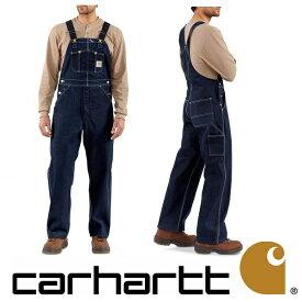 [再入荷]Carhartt正規品 Men's Denim Unlined Bib Overall R08カーハート デニム オーバーオール インディゴ インポートブランド ワークパンツ ボトムス アメリカ USAモデルワークウェア 作業着 ヒップホップ バイカー【楽ギフ_包装】