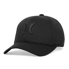 Hurley Men's One & Only Black Flex-Fit Hat MAFCOOBLK ハーレー帽子 キャップ ブラック【あす楽対応】【楽ギフ_包装】