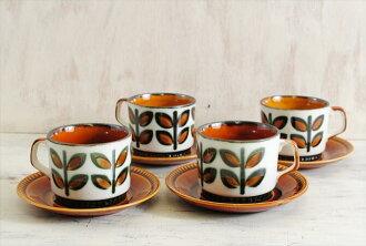 比利时艾维欧艾维欧 Rambouilllet 朗布依埃咖啡杯子 & 碟瓷器陶器古色古香餐具欧洲