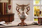 花瓶花器フラワーペース花入れ大きなアンティークおしゃれ置物オブジェエレガントなコンポート