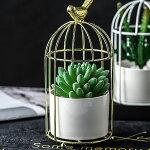鳥籠陶器オブジェ小物入れアクセサリー花瓶アンティーク