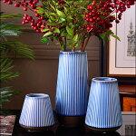花瓶花器フラワーペース花入れアンティーク置物オブジェレトロおしゃれブルー