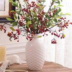 【花瓶】【アンティークベース】花器アンティークフラワーペース花入れ白ホワイトスタイル置物オブジェ陶器の花瓶