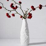 陶器の花瓶花器フラワーペース北欧花入れアンティークインテリア雑貨贈り物新築祝いプレゼント花瓶(白)おしゃれハスの花
