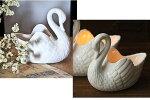 キャンドルスタンドキャンドルホルダー陶器白鳥アンティーク風シャビーおしゃれかわいいキャンドルライトキャンドルスタンド