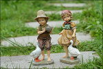 ガーデニングガーデン雑貨お人形ドール置物陶器動物オーナメント