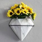 植木鉢おしゃれアンティーク壁掛け陶器ガーデニングガーデン雑貨花台コラムハンギングプランター寄せ植え北欧観葉植物壁飾り三角形