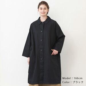 ステンカラーコートアウターレディースコート日本製フリーサイズ2020秋CALMLANKAカームランカ送料無料