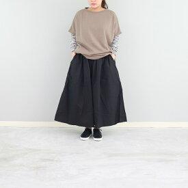 タイプライターギャザースカート ウエストゴム フリーサイズ 春夏 calmlanka 30代 40代 50代 60代 カームランカ 日本製 送料無料