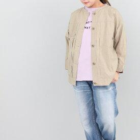 カットオフカラーシャツジャケット