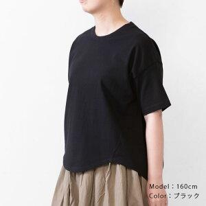 【ポイント5倍】ヘムTシャツトップスレディースTシャツカットソー天竺日本製フリーサイズ2020夏CALMLANKAカームランカ送料無料