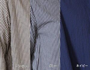 【送料無料】バンドカラーAラインシャツトップスレディースシャツギンガムチェックバンドカラーAラインワイド長袖日本製フリーサイズ2020春夏CALMLANKAカームランカ