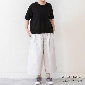 エンドツイストTシャツトップスレディースカットソーTシャツ日本製フリーサイズ2020夏CALMLANKAカームランカ送料無料
