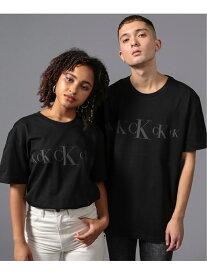 【SALE/40%OFF】(M)CALVIN KLEIN JEANS/シルエットロゴ クルーネックTシャツ Calvin Klein Jeans カルバン・クライン カットソー Tシャツ ブラック ホワイト【RBA_E】【送料無料】[Rakuten Fashion]