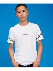 【SALE/40%OFF】カルバン クライン 【カルバン クライン ジーンズ】 CK ロゴ ショートスリーブ Tシャツ Calvin Klein Jeans カルバン・クライン カットソー Tシャツ ホワイト ブラック【RBA_E】【送料無料】[Rakuten Fashion]